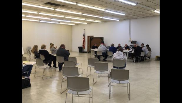 Pulaski County Commissioners and county council members met during an emergency meeting on March 18 to discuss shutting the courthouse to the public but still offering services to the public.