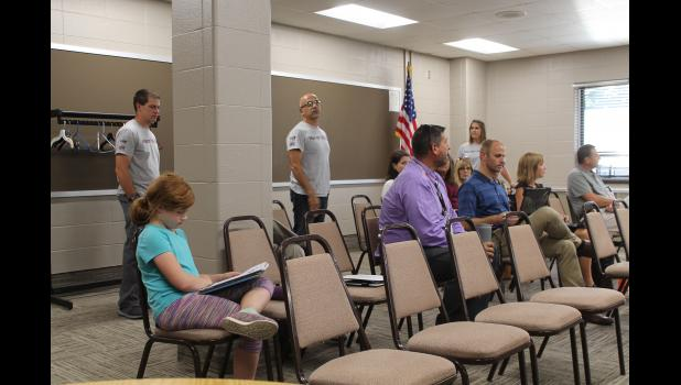 Winamac Community High School teachers Jeremy Wegner, Kevin Zupin and Gretchen Gearhart spoke with the school board Monday evening about a program at the high school to positively recognize students and staff.