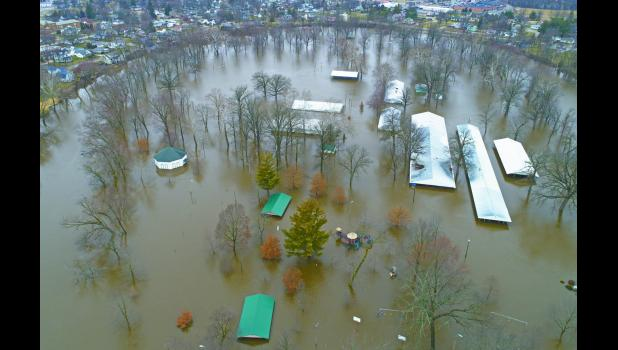 The National Weather Service predicted the Tippecanoe River would crest at 15.16 feet above the flood stage during the weekend but locals may argue that the level was closer to the 15.7 feet that was the flood stage on March 14, 2009. In January of 2008, the river flood stage reached 15.03 feet.