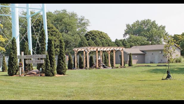 The Francesville Town Park now has a quiet spot to reflect as the Love Your Community project is complete. The water fountain and pergola added a space that the whole family can enjoy while it also hides some of the water tower.