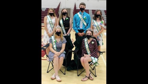 Members of the 4-H Royalty Court and the 4-H Royalty were announced Sunday afternoon. The court includes Taylor Clark, McKenzie Mitchell, Coy Field and Jaden Cords. The royalty this year are Tori Culp and Jenna Cords.