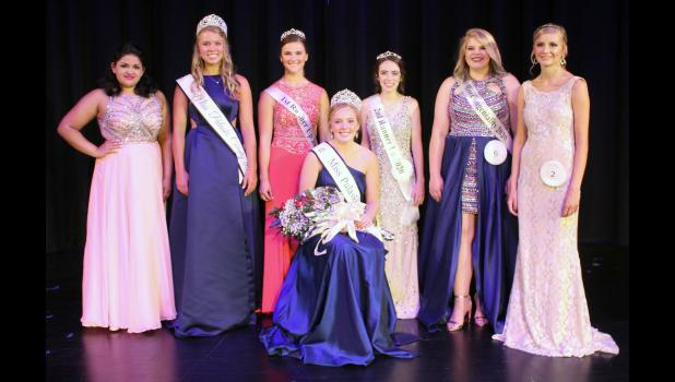 Taylor Jennings was crowned the 2020 Miss Pulaski County Sunday afternoon. Jennings' court includes first runner-up Shalihn Compton, second runner-up Jenna Cords and Miss Congeniality Danni-Jo Rausch. The court posed with contestant Mahailia Dugan, 2019 Miss Pulaski County Jillian Brumm and contestant Ashlee Keller.