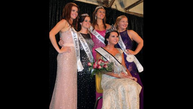 Miss Pulaski County Fair Queen Jessica Wagner was joined by her court after the judges had a difficult decision to make among the eight outstanding contestants. People's Choice winner was Braylin Balough, while second runner-up was Tori Howard, first runner-up was Donna Zehner and Miss Congeniality was Maddie Ruff on Sunday, July 3.