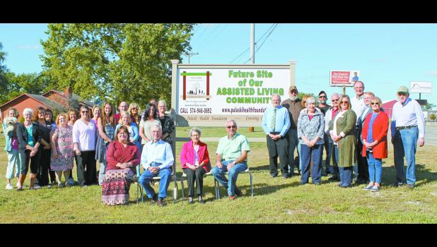 On Sept. 28, the Pulaski Health Foundation held a site dedication for the future assisted living center that will be built on U.S. 35 in Winamac. The health foundation honored the couple, (center sitting) Kenneth and Phyllis Gardner, that helped the project along during the site dedication.
