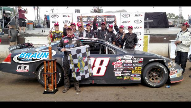 Justin Haley and team earned their first win in the ARCA racing series on Sunday. Haley also became the youngest championship auto racing driver to win at the Springfield Mile since the first race held there in 1934.