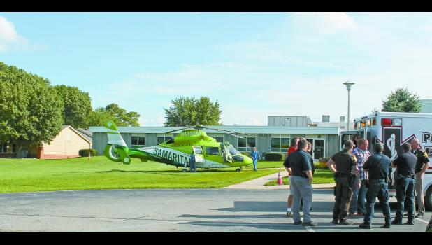 The scene at Pulaski Memorial Hospital gave an indication that something big happened on Monday, Aug. 1, as police descended there. One sheriff's deputy was injured during a pursuit and was airlifted from Winamac.