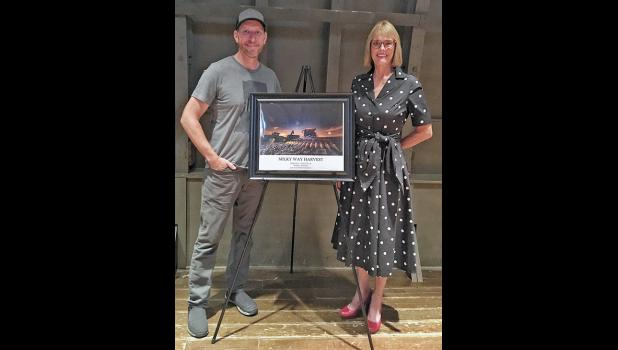 """Tom Jones' """"Milky Way Harvest"""" will hang in the office of Indiana Lt. Governor Suzanne Crouch."""