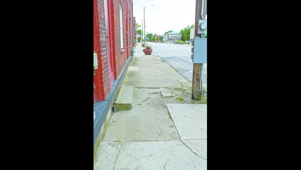 The sidewalks in the downtown area became the topic of discussion during a recent Francesville Town Council meeting.