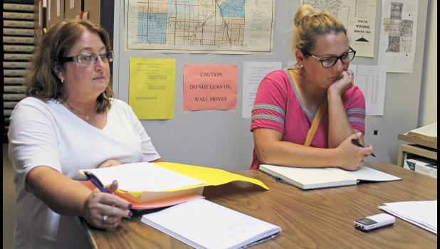 The new members of the Pulaski County Election Board, Patty Sullivan and Jessye Gilley, met for the first time on July 30 for a meeting.