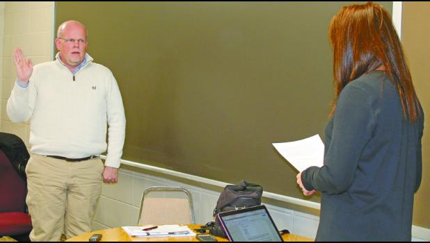 Rob Zeider was sworn as an Eastern Pulaski Community School Board member Monday evening.