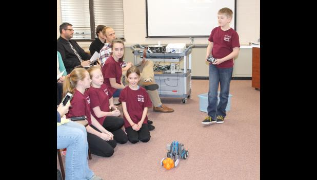 The Eastern Pulaski Elementary School Vex Robotics team introduced themselves to the Eastern Pulaski Community School Board Monday evening and briefly talked about the program. Danica Kistler, Kelsey Wegner, Olivia Link, Piper Link and Karsten Sandberg shared what they learned from being a part of the team.