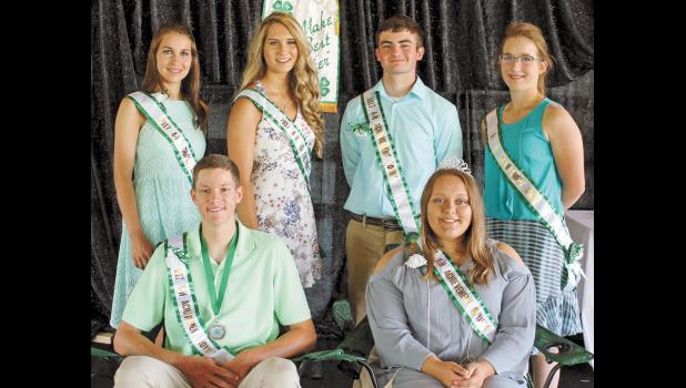 Shania Hartmann, Rachel Ploss, Ethan Shannon and Kassi Dahn were named to the 4-H Royalty Court. John Rumsey and Andriana Smith were named the 4-H Royalty King and Queen.