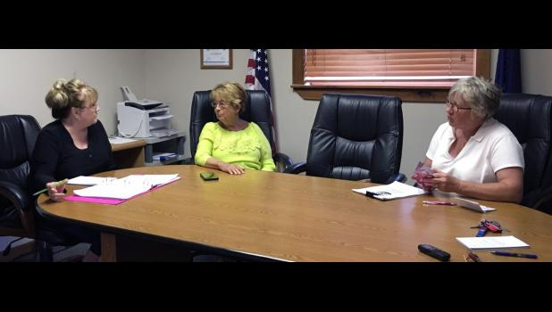 Members of the Medaryville Election Board, clerk-treasurer Judy Harwood, democrat Betty Payne and republican Pat Tiede, met for the first time to talk about their responsibilities for the upcoming election.