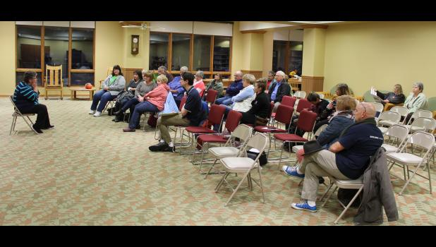 Several people gathered at the Pulaski County Public Library Nov. 9 to hear what the future plans are of the community pool committee after the Winamac Town Council approved to not move forward with pool operational funds until those funds are available.