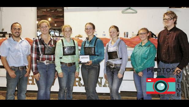 Striving for the best came to fruition as Kassi Dahn was named the 2018 4-H Ultimate Livestock Showman. She was congratulated by judge Dr. Clint Shireman and fellow contestants Peyton Newman, Tori Culp, Emma Nielsen, Shania Howard and Ryan Lynch.