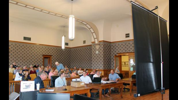 Several residents that included county officials attended a meeting regarding courthouse renovation plans on Aug. 13.