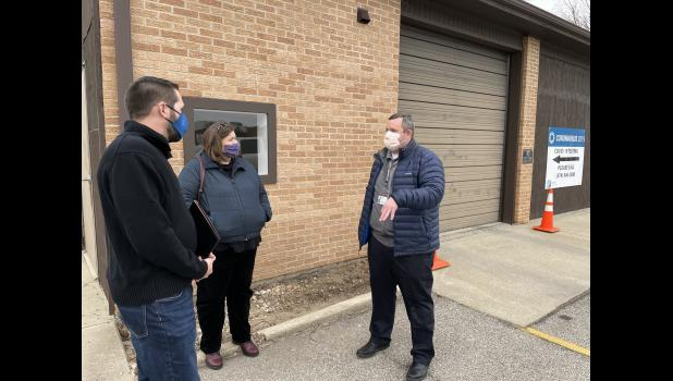 Chris Salatas, regional deputy for Senator Todd Young, Courtney Papa, district deputy for Senator Todd Young, also spoke with Pulaski Memorial Hospital Communications Director Brian Ledley about the COVID-19 testing site at the hospital.