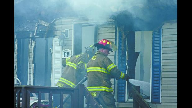 Firefighters from North Judson, Medaryville and Winamac were dispatched Monday, Aug. 13, to battle a house engulfed in fire.