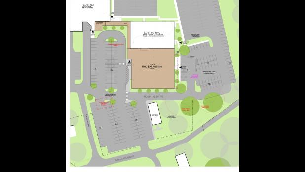 Pulaski Memorial Hospital expansion site plans