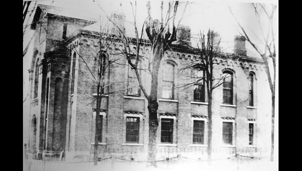 (Pulaski County Journal —March 2001) This brick structure cost $12,000 and was built within two years, provided the railroad to Winamac was finished in time to haul the materials to the contractor. This building was completed in 1862 and county offices moved to the Odd Fellows Building while construction took place. (Photograph was obtained from the Pulaski County Public Library.)