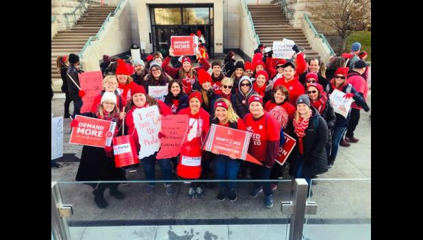 A number of Eastern Pulaski Community School Corporation teachers attended the Red for Ed Action Day on Nov. 19.