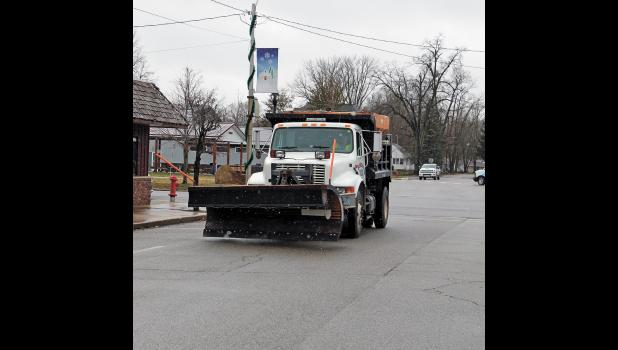 Winamac trucks are ready to move the snow and salt the roads as the threat of snowfall is underway for the season.