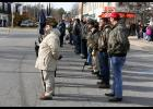 Braving the cold temperatures, veterans lined Main Street Saturday morning for the annual service.